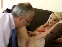 Teen slut and older guy blowjob fuck
