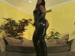 Big Titty Big Butt Ghetto In Latex Pussy Licked