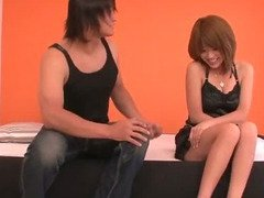 Rika Aina and a muscle bound horny guy fucking
