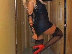 Blonde in Leather Double Penetration HD