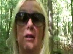 Marie, French mature fucked in forest