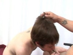 Handsome Gay Bareback Fuck At The Office