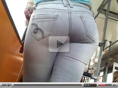Beautiful latina big ass in the bus