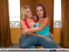 Penny and Lacie Nice Lesbian Fun