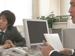 Two Guys Fuck And Creampie Aiko Hirose At The Office
