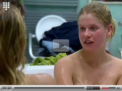 Big Brother NL - Hot blond Teen chatting in Bath pt 2