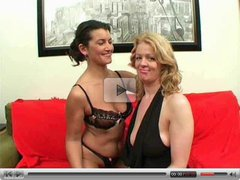 British lesbians Georgina and Starr play with each other