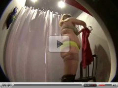 Voyeur chubby girl in stockings