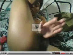 Hot Ebony Girl Teasin' & Playin' With Her Beautiful Body