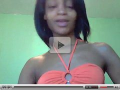 Mixed girl shows her body on cam