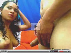 Latin couple blowjob and doggy
