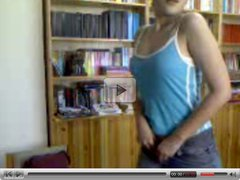Turkish girl on webcam with bottle