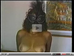 Black Masked Slut Gets Facial!
