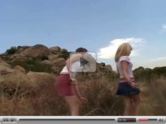 Sweet Kimmie, Tiny Summer and Jenny - On the rocks