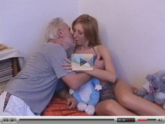 Old man fuck young teen on bed