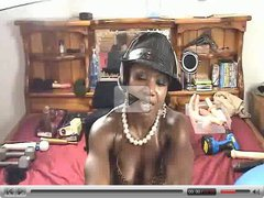 Sexy EbonyMuscle Has Fun With Toys