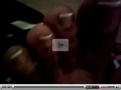 FF24 Ebony French Tip Toes(must see)