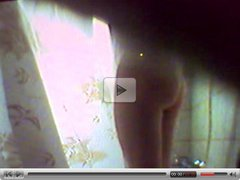 a real spy cam video from a very hairy girl in bathroom 2