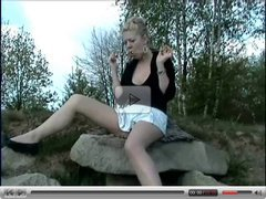 German Kahti outdoor masturbation