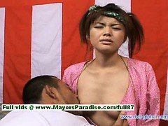 Yuzuru hot girl teen japanese beauty enjoys getting nipples licked