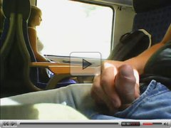 Jerking for 2 girls on train (dont see)