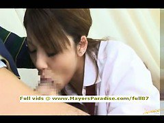 Risa Tsukino smart amateur Asian blowjobs and gets cumshoot