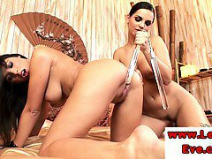 Lesbos Eve Angel and Zafira toy fucking