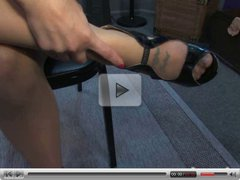 Hot strapon and under foot domination by Mistress Missy