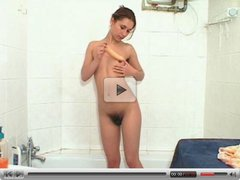 hairy ANDREA solo shower