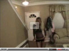 blonde gf strip dance