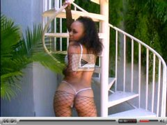 Mone Devine fucks in fishnet