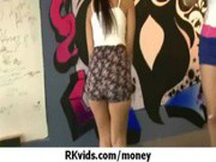 Gorgeous teens getting fucked for money 2