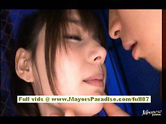 Rio hot asian chick is tied up and teased with a vibrator