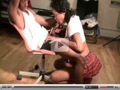 Ebony Teen cant Handle Big Dick