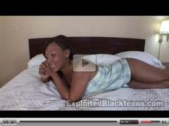18 Yr Old Ebony Amateur Babe 1st Time Vid