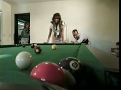 British MILF Nici Stirling gets fucked on a pool table