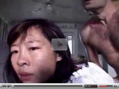 Asian horny mom gets her face full of cum