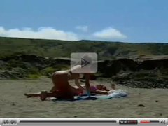 Jacqueline Lovell and girlfriend on nude beach