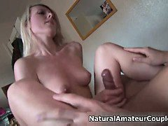 Hot blonde girl gets horny jerking part6