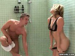 Adrianna Nicole DP threesome in the shower