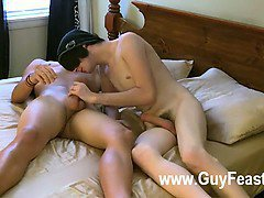 Hot gay They begin off making out and with Aron engulfing Justin's