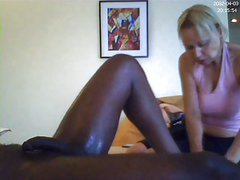 mature massages black cock can't avoid to suck it