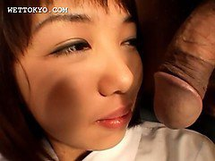 Asian sweet teen draws and sucks hard cocks in bed