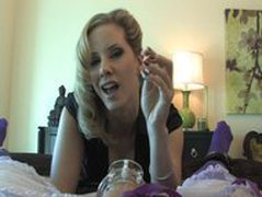 Mistress Madeline Unlock Sissy's Clit & Plays