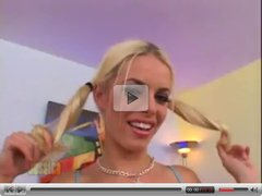 Blonde with Pigtails Gets her Pussy Smashed - Karcher87