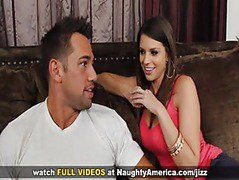Lesbians Alex Chance and Brooklyn Chase in threesome on  Naughty America