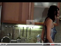 Cute teen Eufrat fuck in the kitchen