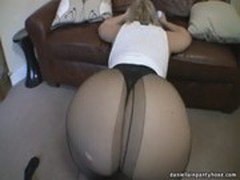 Big ass milf in pantyhose  thong
