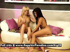 Heaven and Klara lesbo girls fingering and licking pussy