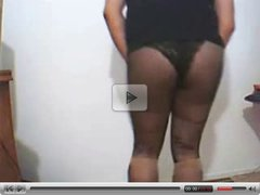 amateur tranny black top black panties